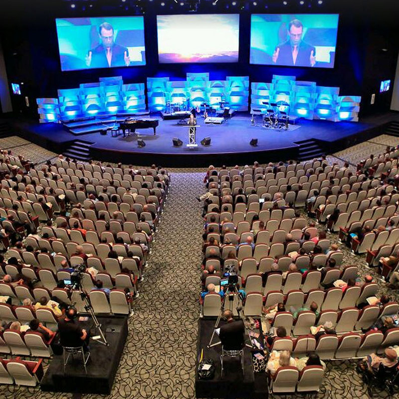 Crossroads Church stage system